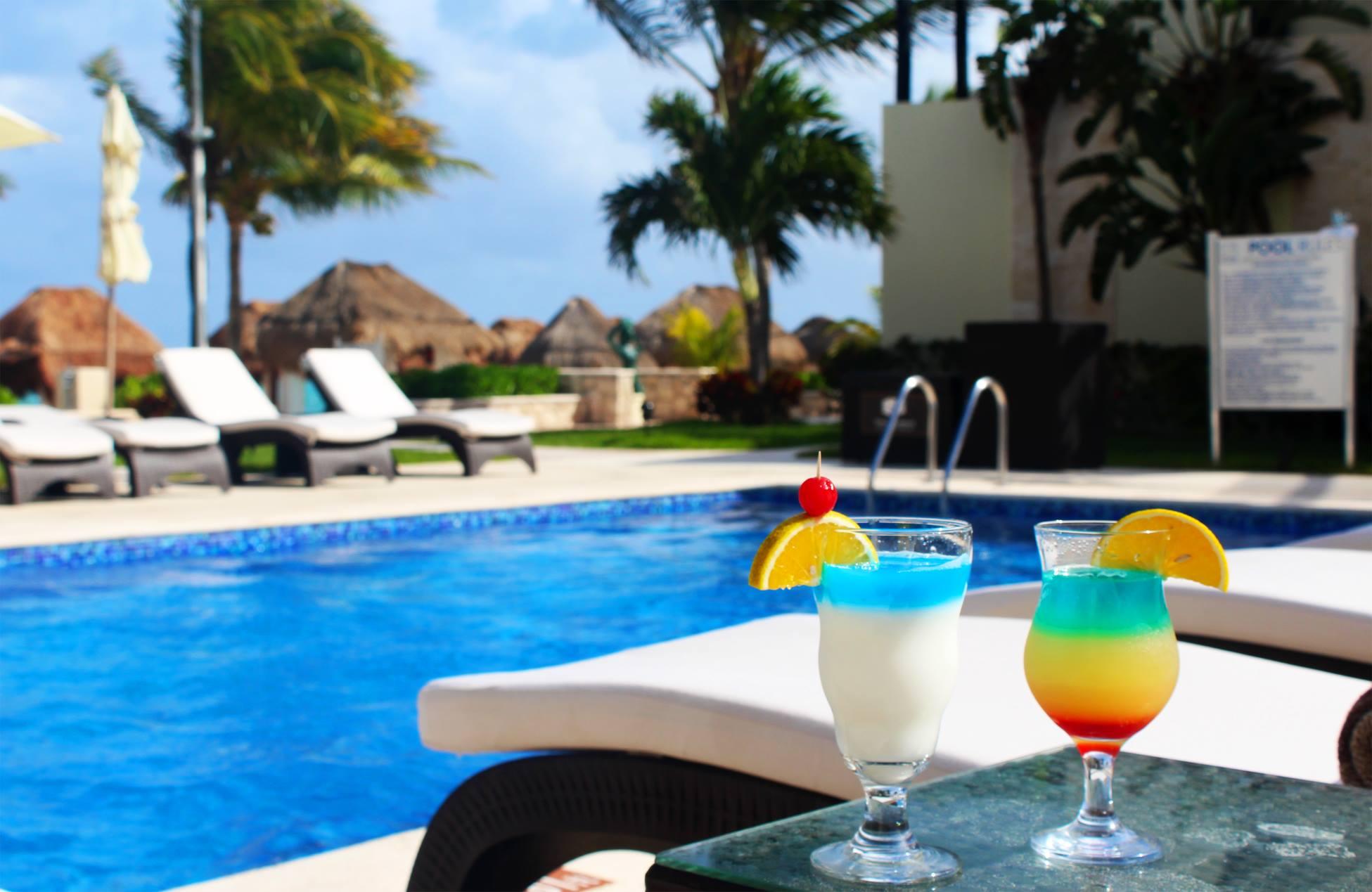 Pool Drinks as Azul Beach Riviera Maya